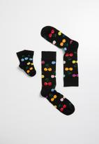 Happy Socks - 2 Peas in a pod gift box - black
