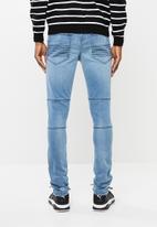 Superbalist - Biker abrasions jeans - light blue