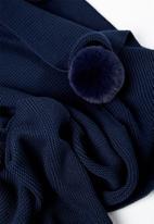 Cotton On - Cotton knit blanket - navy