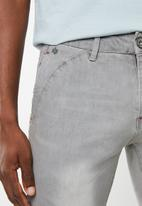 SOVIET - Slim leg denim jeans - grey