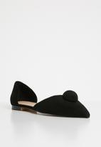 MANGO - Pom pom detail shoes - black