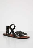 Jada - Faux leather sandals - black