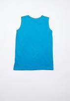 POP CANDY - Printed vest-mid blue