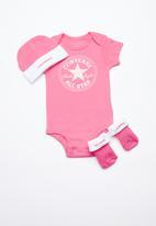 Converse - Star chevron infant set - pink & white