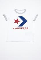 Converse - Star chevron ringer tee - white