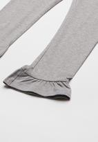 name it - Frill bottom leggings - grey