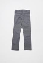 name it - Silas denim long pants - grey