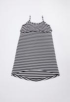 Rebel Republic - Frill detail summer dress - black & white