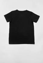 name it - Boy print short sleeve top - black