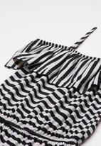 Rebel Republic - Ruffle trim playsuit - black & white