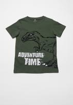 name it - Adventure time short sleeve top - green