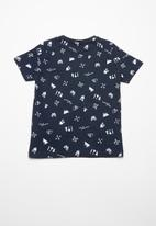 name it - Karl short sleeve top - navy