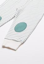 Baby Corner - Bear printed pyjama set - green & white
