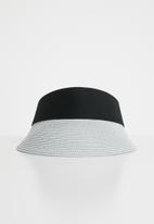 Superbalist - Straw visor hat - white & blue