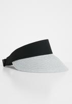Superbalist - Straw visor hat - white & blue