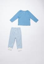 Baby Corner - Fly printed pyjama set - blue & white