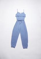 Rebel Republic - Jumpsuit with frill detail - blue