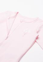 name it - Night ballerina sleepsuit 2pack - pink