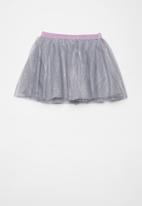 name it - Pony doris tulle skirt - silver & grey