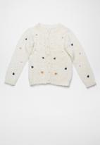 name it - Latine long sleeve knit cardigan - white