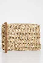 Superbalist - Angela straw clutch - beige