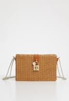 Superbalist - Straw square clutch bag - brown
