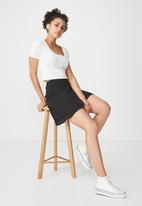 Cotton On - Woven alana mini skirt - black