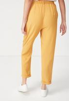 Cotton On - Abi high waist pant - yellow