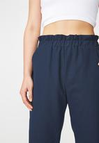 Cotton On - Abi high waist paper-bag pants - navy