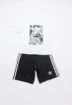 adidas Originals - Camo trefoil shorts and tee set - multi