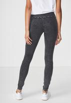 Cotton On - Dakota detail leggings - black