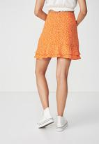 Cotton On - Woven alana mini skirt - orange