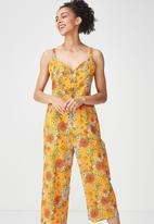 Cotton On - Woven toni strappy jumpsuit - orange