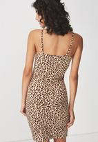 Cotton On - Freya bodycon dress -  tan