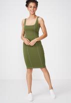 Cotton On - Kimi scooped bodycon midi dress - green