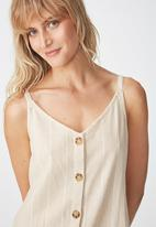 Cotton On - Woven margo slip dress - white & cream