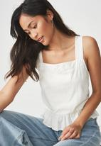 Cotton On - Sally peplum top - white