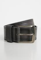 Superbalist - Ross leather belt - grey