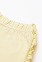 Superbalist - Summer sweat frill shorts - yellow