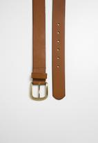 Superbalist - David leather belt - tan