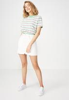 Cotton On - Summer multi stripe - white and green