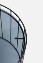 Sixth Floor - Tillie iron & glass table