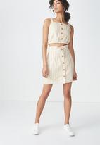 Cotton On - Reign cami - beige & white