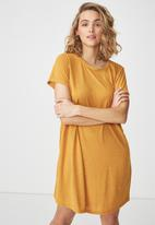 Cotton On - Tina -t-shirt dress - yellow and white