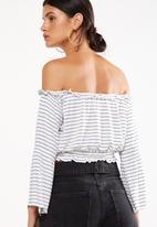 Cotton On - Sofia off the shoulder top - stripe white