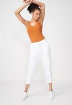 Cotton On - Double v rib tank top - orange