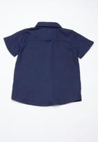 Superbalist - Boys linen shirt - navy
