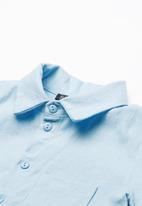 Superbalist - Boys linen shirt - blue