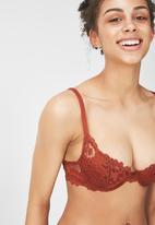 Cotton On - Maddie demi contour bra - red