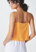 Cotton On - Pippa chooped cami - orange